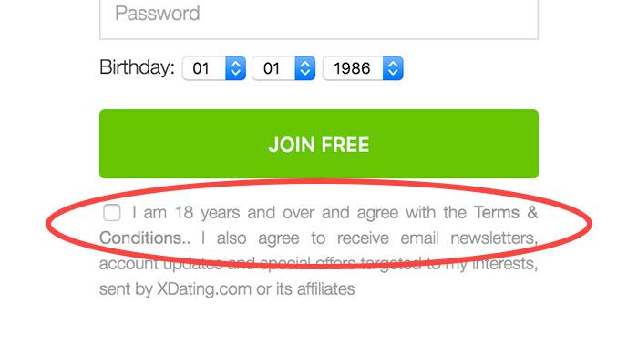 XDating.com – Terms link 1
