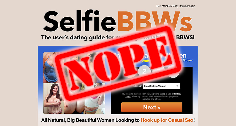 How To Get Laid At SelfieBBWs.com – Here's a nice pic of you don't!