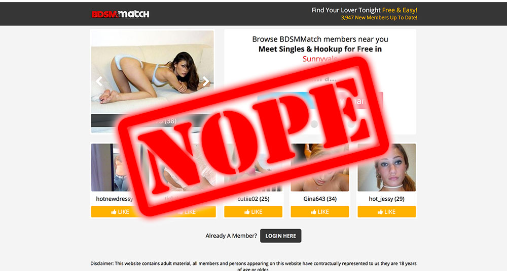 How To Get Laid At BDSMMatch.com – The D is for you Don't!